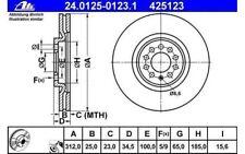 ATE Juego de 2 discos freno Antes 312mm ventilado para SEAT VW 24.0125-0123.1