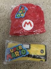 Super Mario Bros. Red Knit Beanie And Yellow Coin Block Fleece Scarf CULTUREFLY