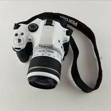 Pentax K-50 Bianco Corpo Della Fotocamera Digitale W DA WR f3.5-5.6 18-55mm L Lente
