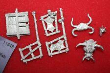 Games Workshop Warhammer Beastmen Tuskgor Chariot Crew Bits Lot Beastman Metal
