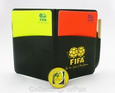 Football Soccer Referee Wallet with Red and Yellow Cards & Game Flip Coin+Pencil