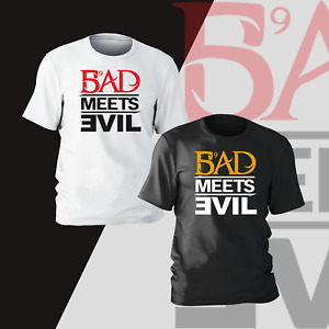 Bad Meets Evil T-Shirt Funny Present Gift Kids Mens Unisex Womens Tee