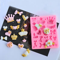 Silicone 3D Crown Fondant Cake Chocolate Sugarcraft Mold Baking Mould Convenient
