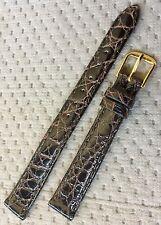 New Genuine Crocodile 12mm Dark Brown Watch Strap Band