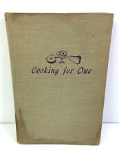 Vintage Cooking For One by Elinor Parker 1955 Hardback   B2