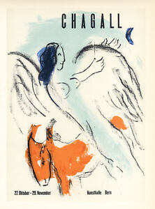 Marc Chagall lithograph poster (printed by Mourlot) 54667576
