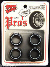 Hoppin Hydros 1/24 1/25 scale Low Profile Whitewall Lowrider Tires Model Cars