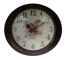 Horloge Murale 33 cm Ovale or Verre Cuisine Antique Paris Londres Nostalgie