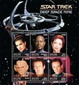Guyana - Star Trek - Deep Space Nine - Sheet of 6 stamps MNH