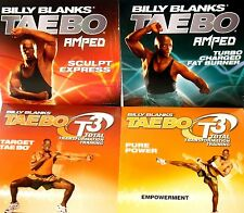 Taebo, Billy Blanks 4 DVDs $69 New! Workout, fitness, Burn Fat, Get Fit ,Tone