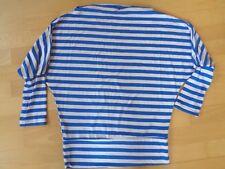 ::: Shirt mit 3/4 Arm ::: blau/weiß gestreift ::: Gr. 38 :::