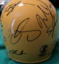 Multi Signed Mini Helmet Auto Kris Bryant Michael Lorenzen Trayce Thompson Jones