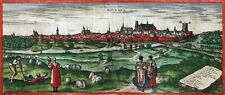 Reproduction plan ancien - Bourges vers 1575