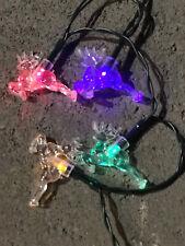 200LED 20M Reindeer Multi-Coloured Solar Christmas Lights