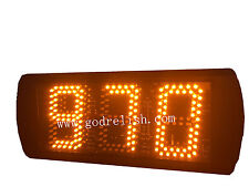 "5"" Yellow High Character LED Digital countdown Timer 999 seconds remote control"
