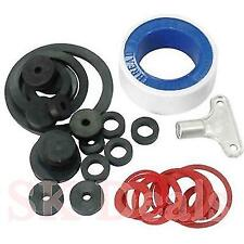 32pcs TAP LEAKS REPAIR KIT SINKS BATHS KITCHEN PIPE JOINTS SEALS KEY TAPE O RING