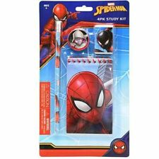 Marvel Spider-Man Stationary Set Back to School Supplies for Kids 4 Pieces