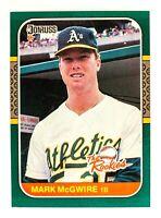 Mark Mcgwire #1 (1987 Donruss) The Rookies Baseball Card, Oakland Athletics