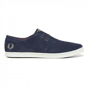 Fred Perry B7401 Authentic Shoes Byron Low Suede carbon Blue Navy