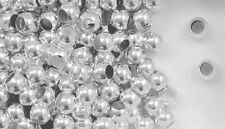 Sterling Silver Beads 6mm Round Large Hole for Spacer Bead on European Bracelet