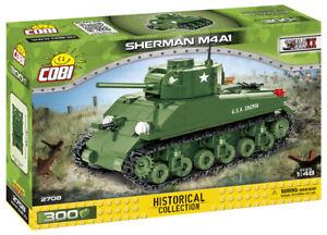 Cobi 2708 (300pcs) 1:48 Scale - US Sherman M4A1 Tank - Building Blocks - WWII
