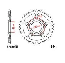 KR Kettenrad 36 Z Teilung 520 HONDA CRM 125 R 90-99 NEU ... Rear sprock