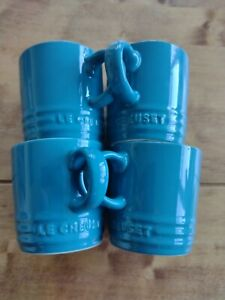 Le Creuset Stoneware set of Espresso Mugs x4