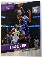 2017 Panini Prestige De'Aaron Fox Rookie RC #155, Sacramento Kings