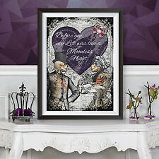 Gothic Poster Print Victorian Anatomical Skeleton - Love Poem Book Wall Decor