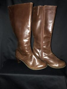 Dr. Martens Brown Vanna Tall Women's Boots with Heel (Free Domestic Shipping)