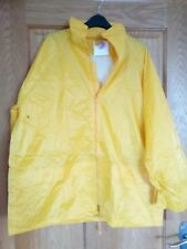 Safety Source Work PVC Waterproof Rain Suit Jacket and Trousers Kit Yellow