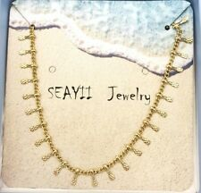"""Seayii 14kt Gold Filled Tiny Charm Choker Necklace 13"""" to 15"""""""