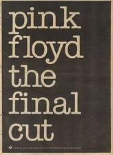 2/4/83PN48 ADVERT: PINK FLOYD THE FINAL CUT 0N HARVEST RECORDS 15X11