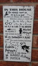 In this house we solemnly swear harry potter phrase quotes sign plaque wall art