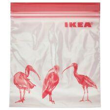 IKEA ISTAD Plastic Ziplock Resealable Food Sandwich Freezer Storage Bags,1l