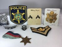 Lot Of Police & Military Insignia Patches Pins Medals Collectible Cosplay
