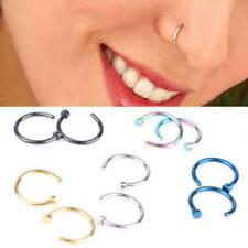 Hoop Ring Stud Unisex Body Jewelry 2Pcs Stainless Steel Piercing Nose Open