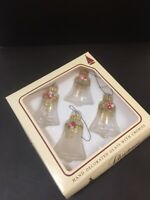 Vintage Christmas By Krebs Nostalgia Bells- Blown Glass Christmas Bells-Set Of 4