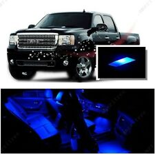 For GMC Sierra 1500 2500  2007-13 Blue LED Interior Kit + Blue License Light LED