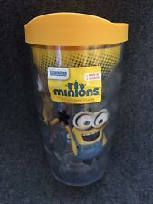Tervis Tumbler Cup 10 oz MINIONS Wavy Wrap Yellow Travel Lid NEW
