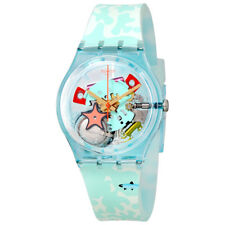 Swatch Piscina Transparent Dial Ladies Watch GL121