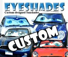 Eyeshade - Custom fit folding sunshade with eyes design for cars and trucks