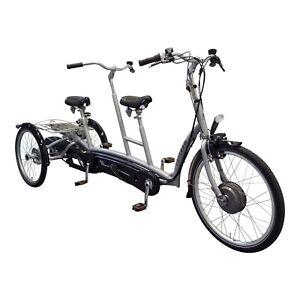 Van Raam Twinny Plus Therapeutisches Elektro Dreirad Tandem/Duo Rad Silent NEU