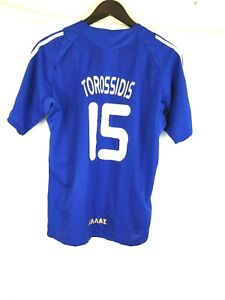 Vasilis Torosidis Greece National team match worn jersey #15 Blue L