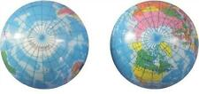 2 WORLD 4 IN GLOBE MAP BOUNCE BALLS novelty squeeze toy bouncing play ball EARTH