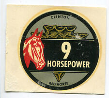 Clinton Engine 9 hp Red Horse Decal NOS