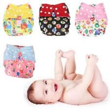 4PCS couche lavable réutilisable + coton insérer bébé lavable Wrap BR
