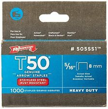 Genuine T50 Stainless Arrow Staples 1 000-Pack for Marine Wet Weather Projects
