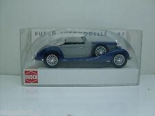 Busch 41323 Horch 853 Cabriolet, Closed Blue, H0 Car Vehicle Finshed Model 1:87