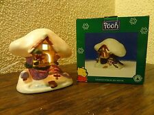 CIB Disney Winnie The Pooh Tigger Porcelain Christmas Village Lighted Tree House